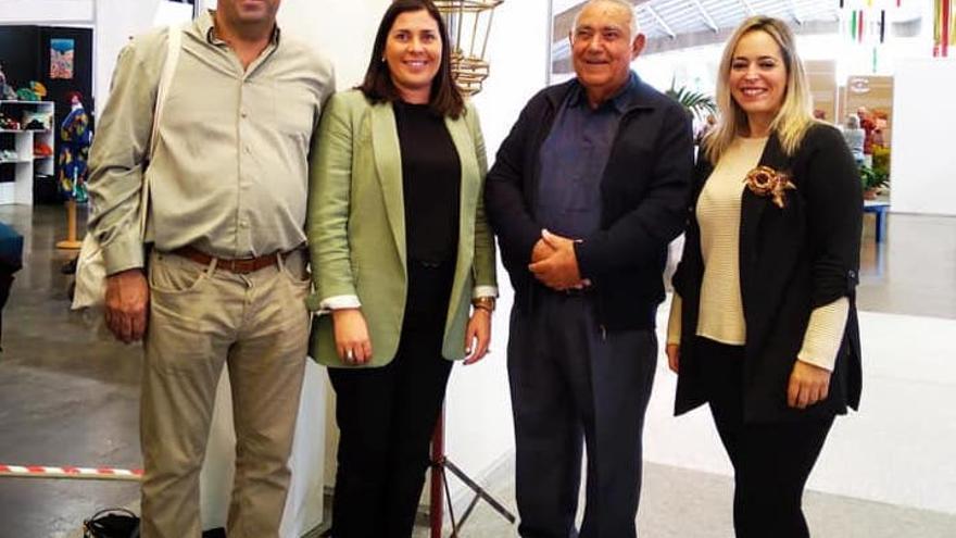 Víctor García con Goretti Pérez y Susana Machín.