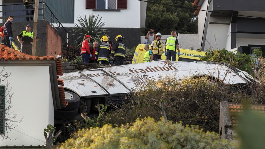 Accidente de autobús en Madeira (Portugal)