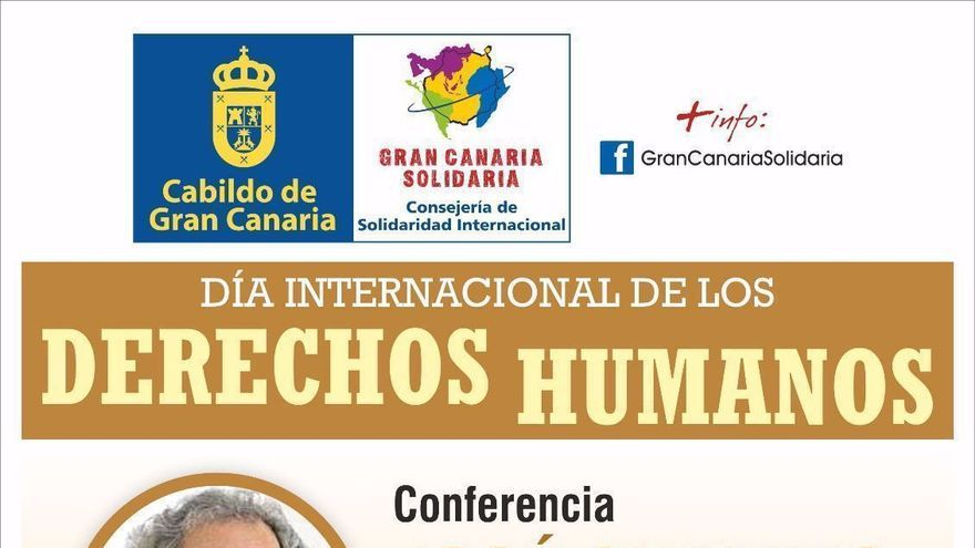 Cartel del Día Internacional de los Derechos Humanos de Gran Canaria.