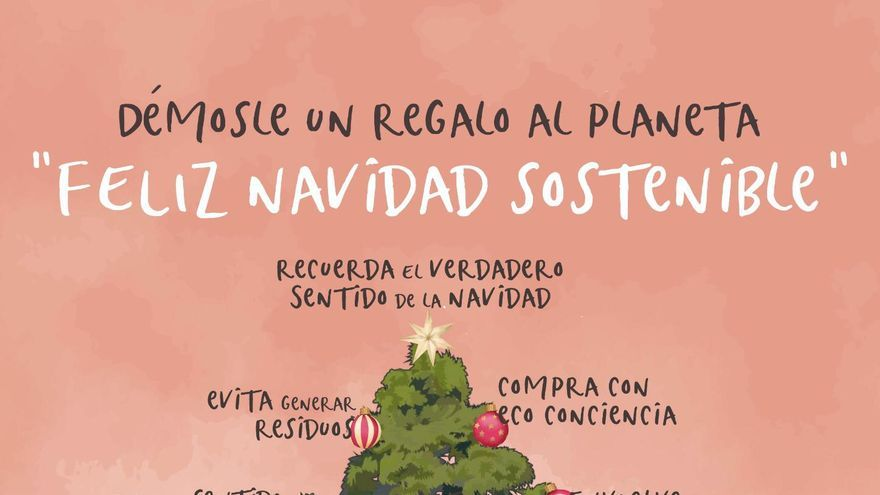 Cartel de la campaña 'Una Navidad palmera más sostenible'.