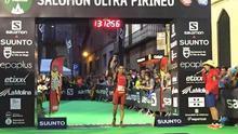 Cristofer Clemente entrando quinto en la 'Ultra Pirineu'