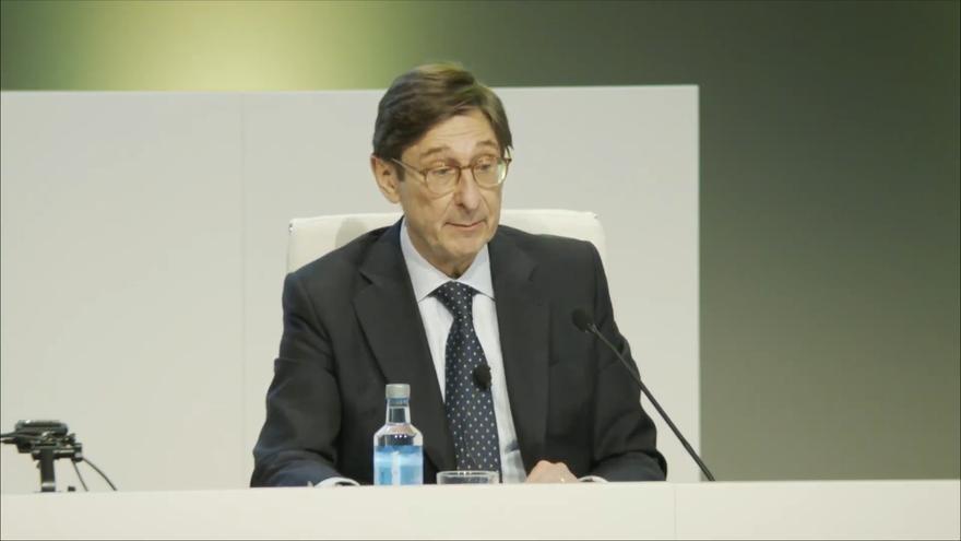 El presidente de Bankia, José Ignacio Goirigolzarri, durante su intervención en la junta extraordanria de accionistas.
