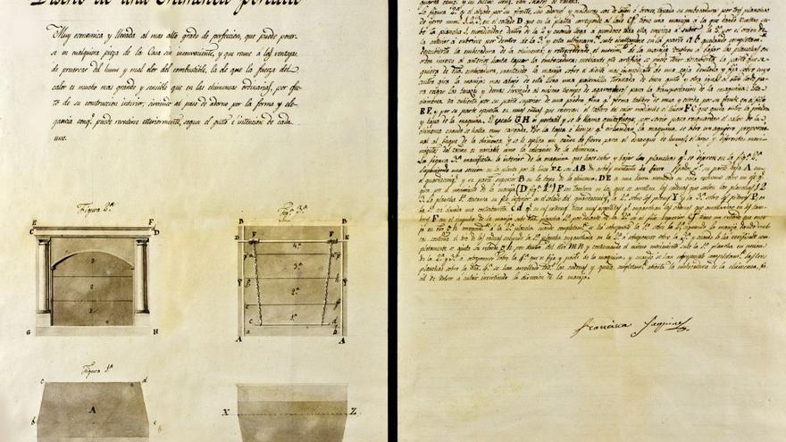"""La chimenea portátil de Jaquinet podía ponerse """"en cualquier pieza de la casa sin inconveniente"""""""