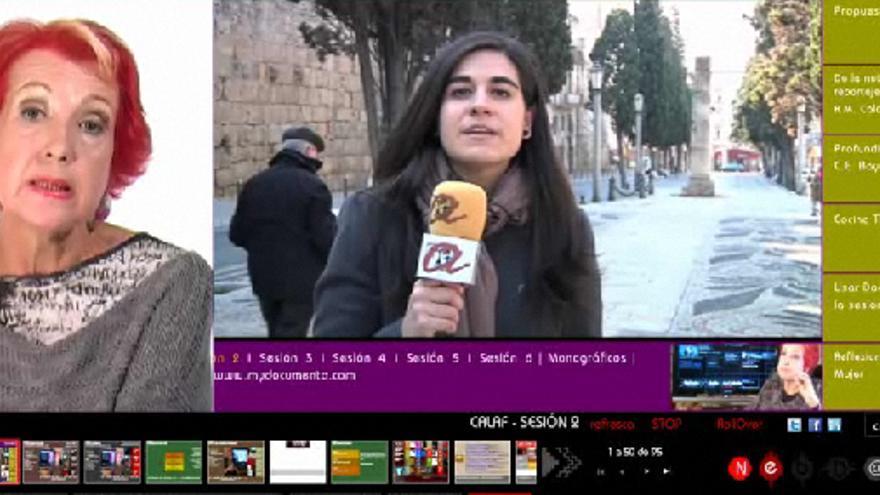 """El proyecto """"Descubre el periodismo con Rosa María Calaf"""" forma parte de la plataforma para compartir multimedia de Documenta, un proyecto de Kton y cía. apoyado por el plan Avanza, que combina subvención y préstamo sin intereses del Ministerio de Industria."""