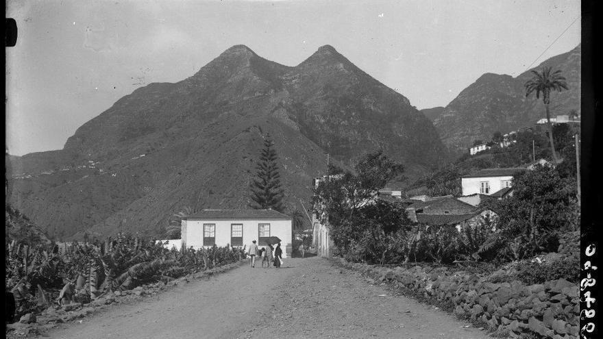 Antigua fotografía de Hermigua de los años treinta.