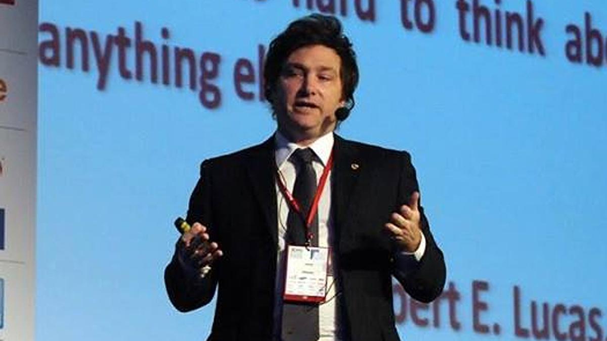 El economista Javier Milei, candidato por el Frente La Libertad Avanza.