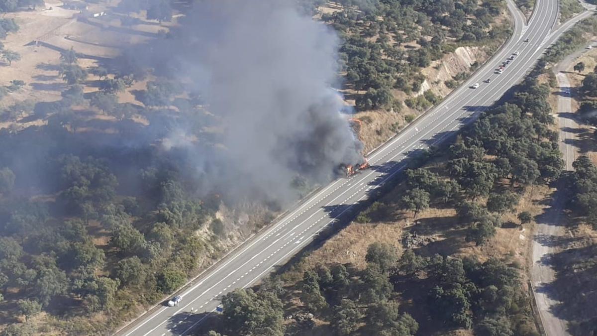 Incendio forestal en Montoro