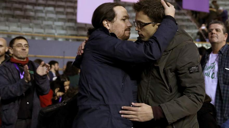 Pablo Iglesias e Íñigo Errejón en Vistalegre II. EFE