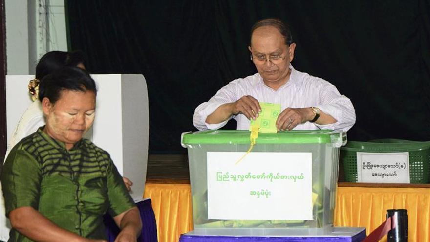 El presidente de Birmania promete respetar el resultado de las urnas