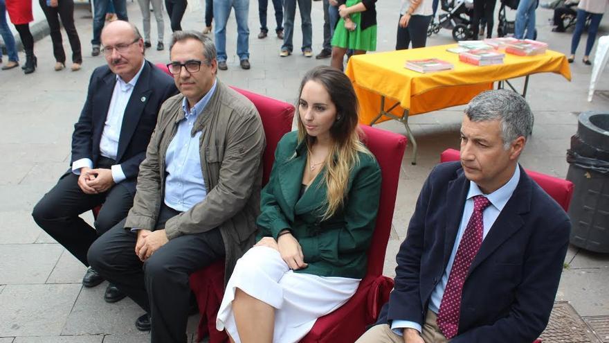 En la imagen, los nuevos cuatro 'embajadores' de la Reserva Mundial de la Biosfera La Palma.