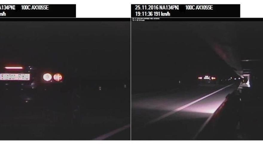 Imputada una conductora en Mendavia por circular de noche a 191 km/h