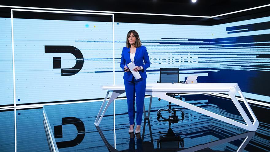 Ana Blanco al comienzo del Telediario 1