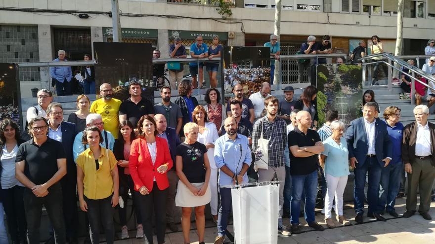 El acto ha contado con el apoyo de entidades sociales, sindicatos y activistas