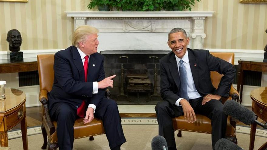 """Obama: Trump quiere mantener las relaciones """"estratégicas"""" de EE.UU. y con la OTAN"""