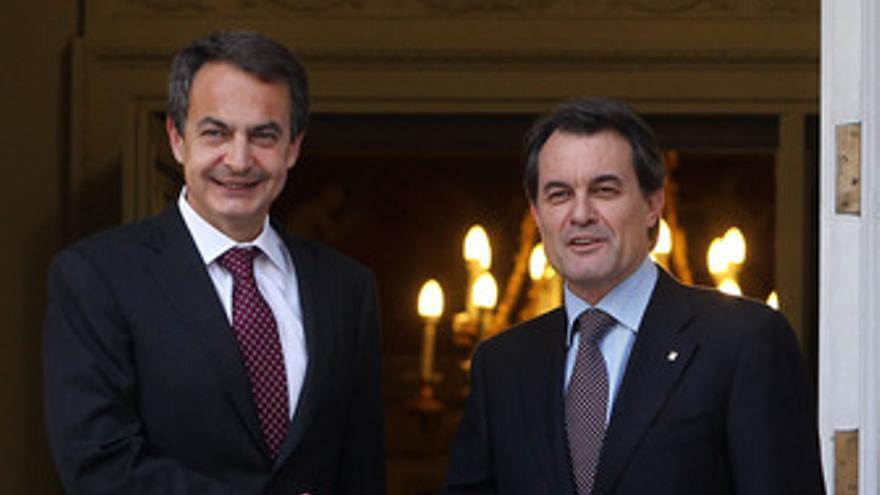 Zapatero y Mas