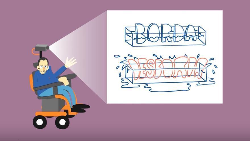 Pablo Echenique se convierte en dibujo animado para explicar su propuesta de votación para Vistalegre 2