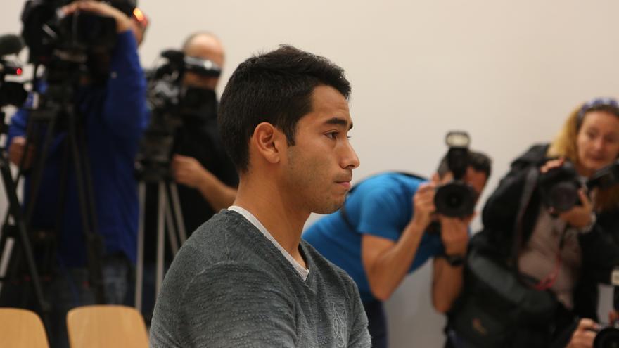 El futbolista de la UD Las Palmas, Sergio Araujo, en el Juzgado de lo Penal número 3 de Las Palmas de Gran Canaria.