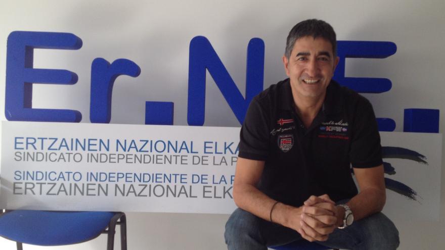 El secretario general de Erne, Roberto Seijo, antes de la entrevista, en la sede de Bilbao.