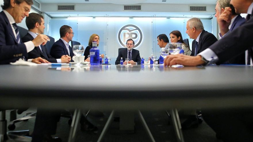 Comité de Dirección Nacional del PP, tras el referéndum del 1 de octubre en Catalunya.