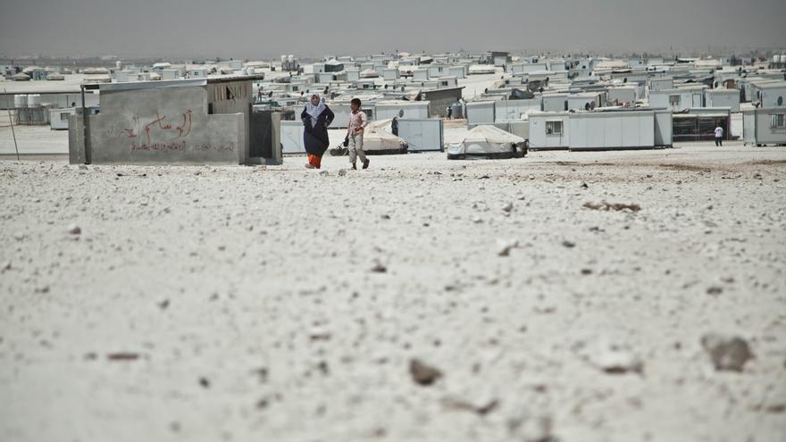 El campo de Za'atari en Jordania alberga a 125.000 refugiados de los casi dos millones de personas que han huido de la guerra de Siria, en su mayoría mujeres y niños./ Fotografía: Pablo Tosco