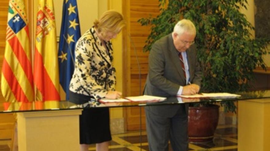 Rudi Y Biel Firman El Acuerdo De Gobernabilidad Para Aragón