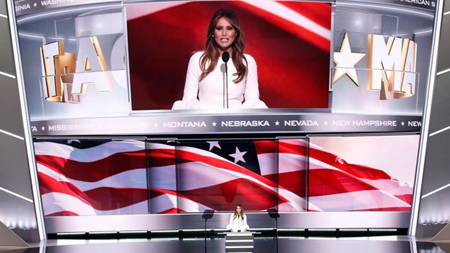 El discurso de Melania Trump guarda similitudes con el de Michelle Obama en 2008