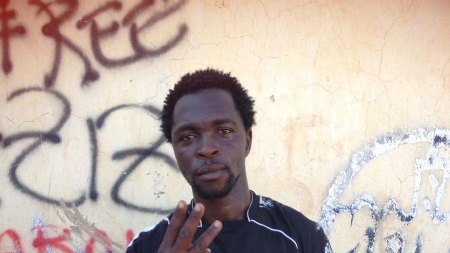Kemo Traoré, jugador del Real Bamako. Mali / Elena González