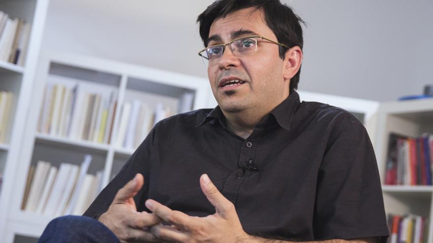 Gerardo Pisarello, durante la entrevista con eldiario.es | Foto: David Conde