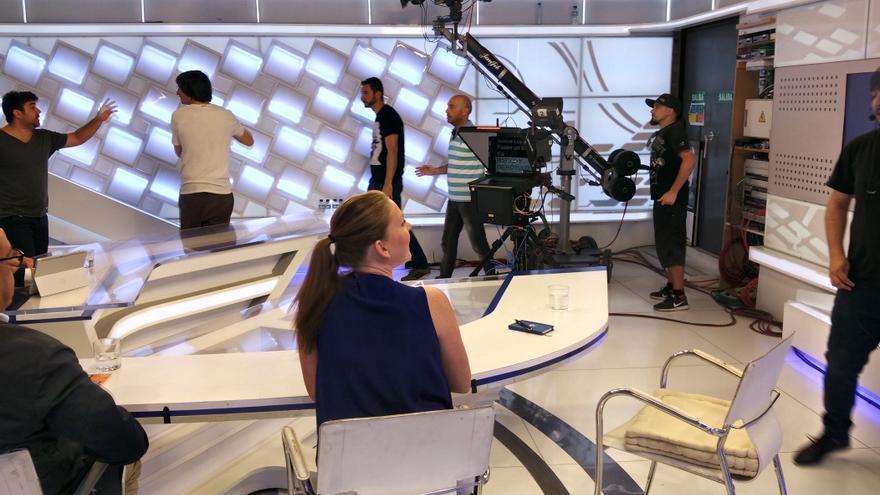 Canal Extremadura Televisión plató informativos