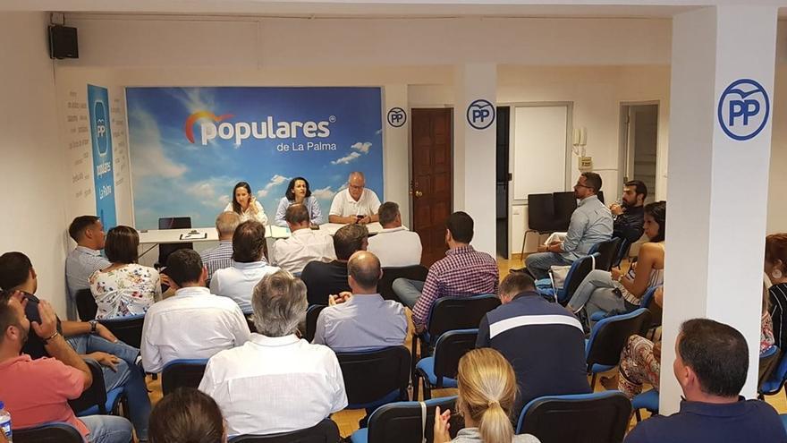 Reunión de la Junta Directiva del PP celebrada este lunes.