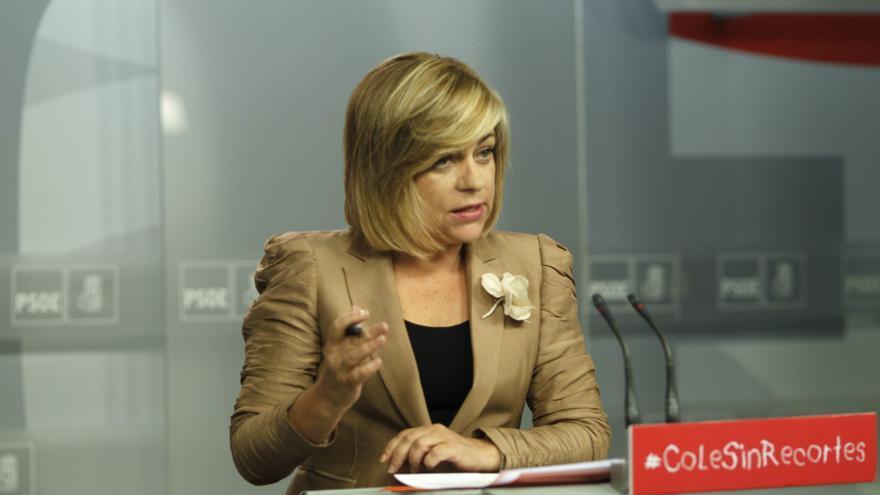 """Valenciano cree que Rubalcaba demostró anoche ser un político """"muy comprometido"""" con su país, al contrario que Rajoy"""