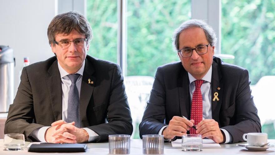 Torra y Puigdemont se reúnen en Waterloo para abordar escenarios políticos