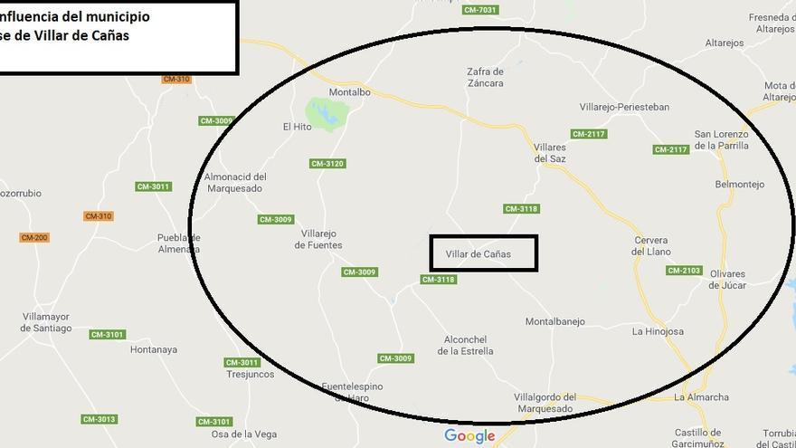 Área de influencia del ATC de Villar de Cañas