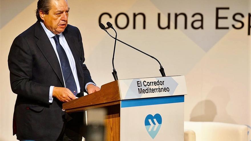 El presidente de AVE, Vicente Boluda, interviene en el acto organizado por los empresarios en Tarragona para reivindicar el Corredor Mediterráneo
