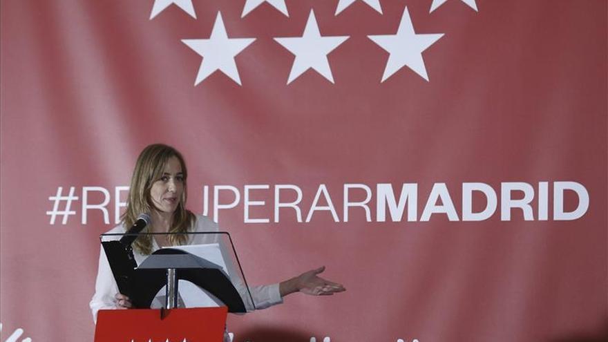 Tania Sánchez, en el acto de proclamación de su candidatura.