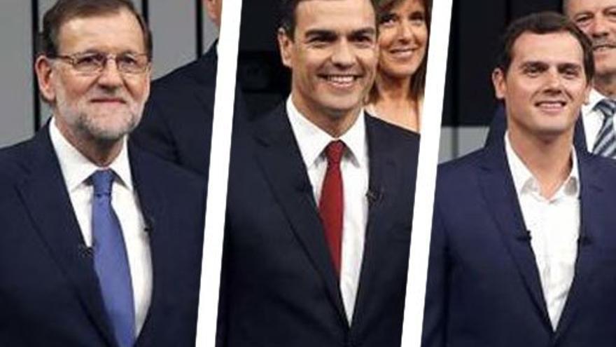 Mariano Rajoy, Pedro Sánchez y Albert Rivera