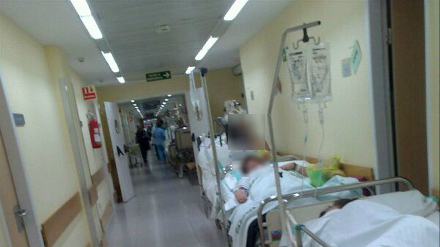 Imagen de las urgencias tomada por testigos en un hospital de Toledo el pasado diciembre.