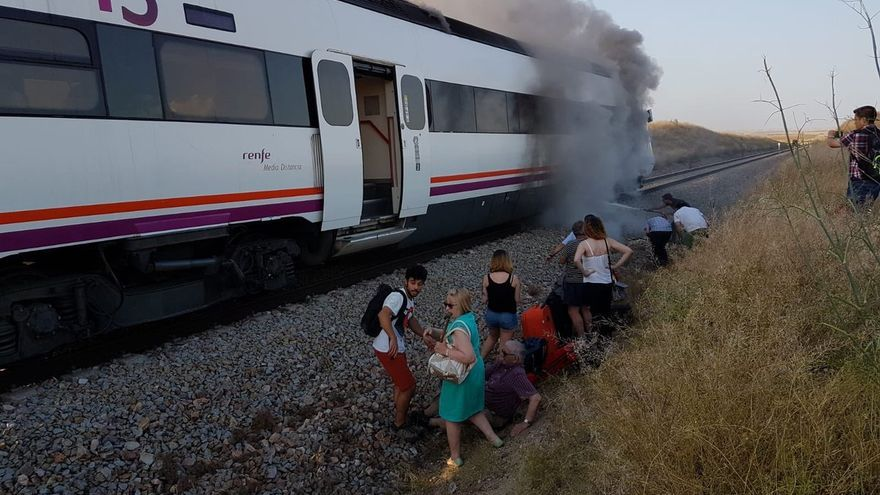 tren ardiendo Madrid Extremadura Huelva