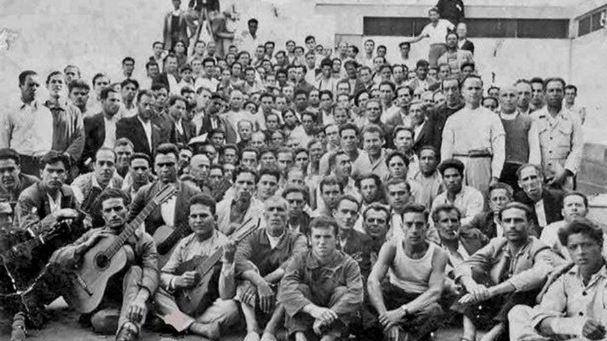 Imagen del campo de concentración de Gando.