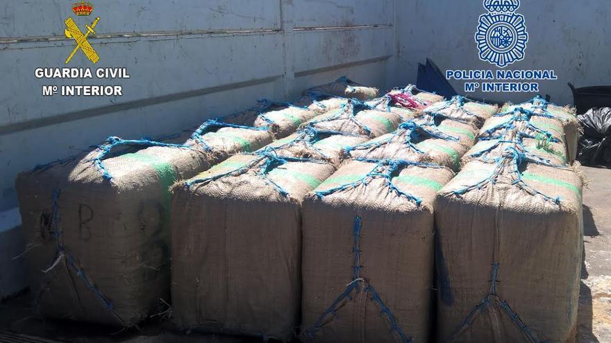Intervenidos más de 780 kg de hachís en la costa de Gran Canaria