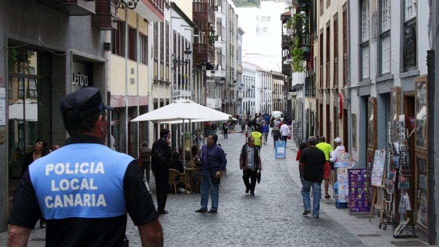 En la imagen, un agente de la Policía Local de la capital.