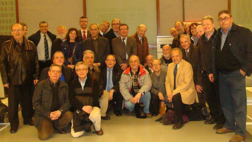 Extrabajadores de Telesincro, entre ellos Jordi Vidal y Joan Majó, reunidos hace unos años