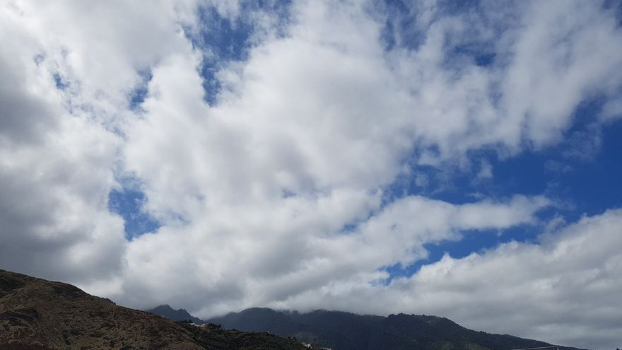 Nubes en el cielo de La Palma.