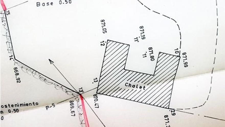 Plano del Chalet de Chira. (Cedida a Canarias Ahora).