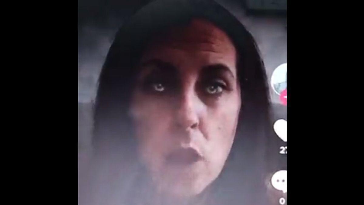 Susana Pancho, en el vídeo en el que arremetía contra Pedro Sánchez.
