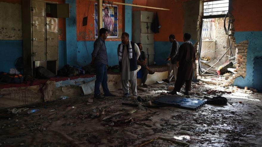 Imagen del gimnasio tras el atentado de ISIS cometido el pasado 5 de septiembre.