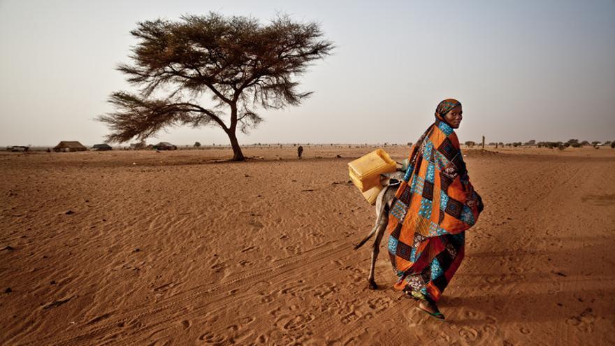 En la comunidad de Natriguel, Mauritania, los pozos se han secado por efecto del cambio climático. Imagen de Pablo Tosco / Oxfam Intermón