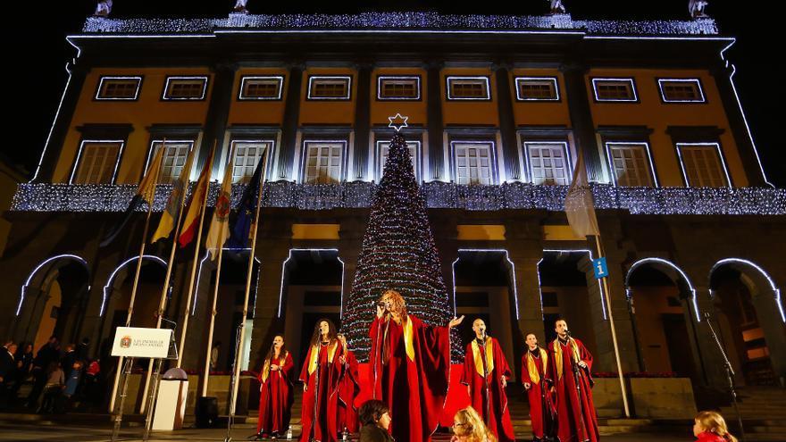 Alumbrado navideño en Las Palmas de Gran Canaria