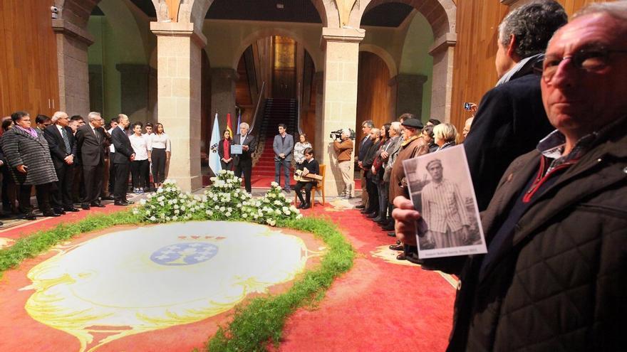 Homenaje a las víctimas gallegas del nazismo, el pasado año en el Parlamento