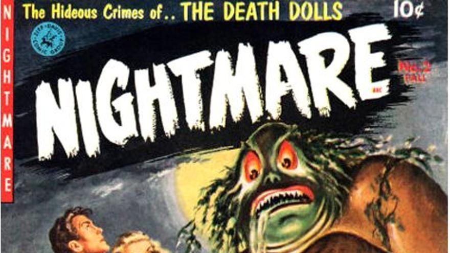 Portada de la revista Nightmare ilustrada por Walter Popp